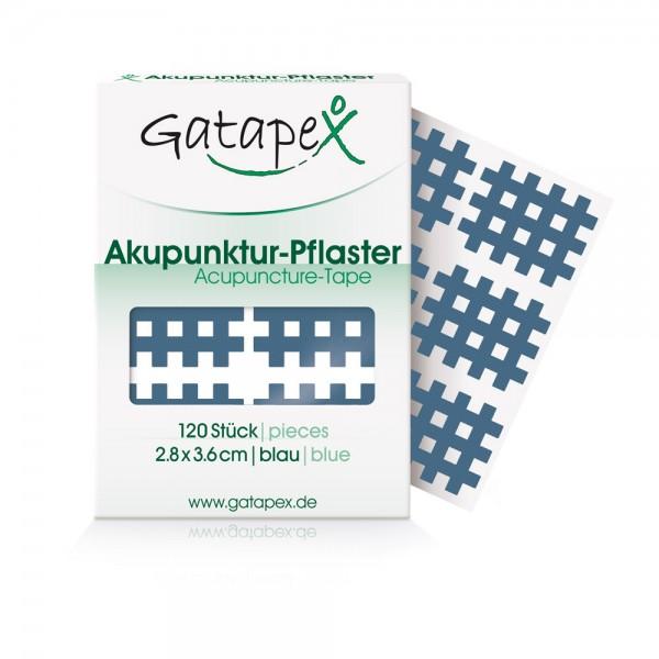 B-Ware Gatapex Gitter Akupunktur-Pflaster (Größe M) 2,8 x 3,6cm Blau