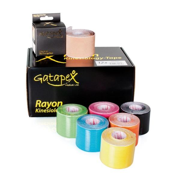 12 Rollen Gatapex Rayon Kinesiology-Tape aus Kunstseide 5cm x 4m