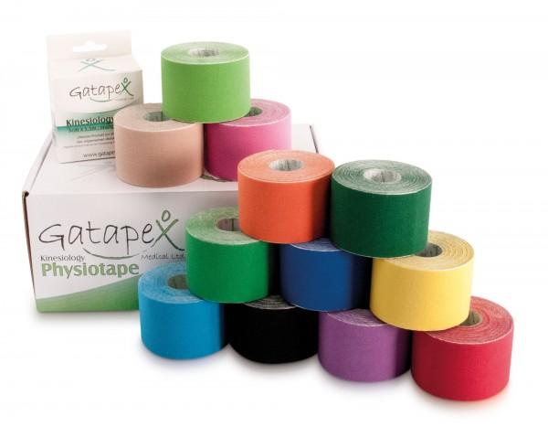 12 Rollen Gatapex Kinesiology-Tape 5cm x 5,5m