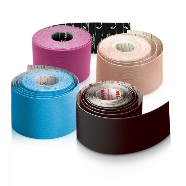 4 Rollen-Schnupperpaket, je eine Rolle Baumwoll-, Nylon-, Rayon- und Premium-Tape