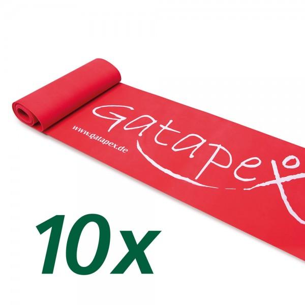 10 Fitnessbänder der gleichen Stärke (2,5m x 14,5cm)